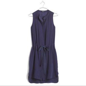 Madewell silk playa dress in fresh blueberry